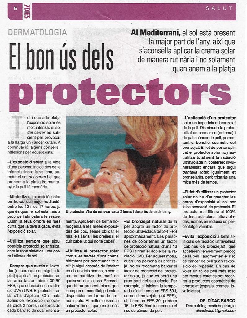EL BON US DELS PROTECTORS- Dr. Barco- 7 dies