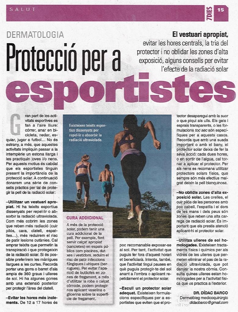 PROTECCIO PER A ESPORTISTES